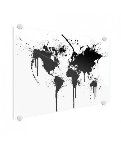 Encre noir sur plexiglas