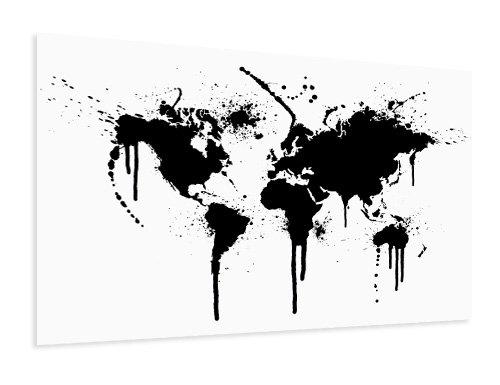 Carte du monde affiche